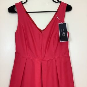 J Crew Kami Dress Classic Faille Sz 2 $200 Coral